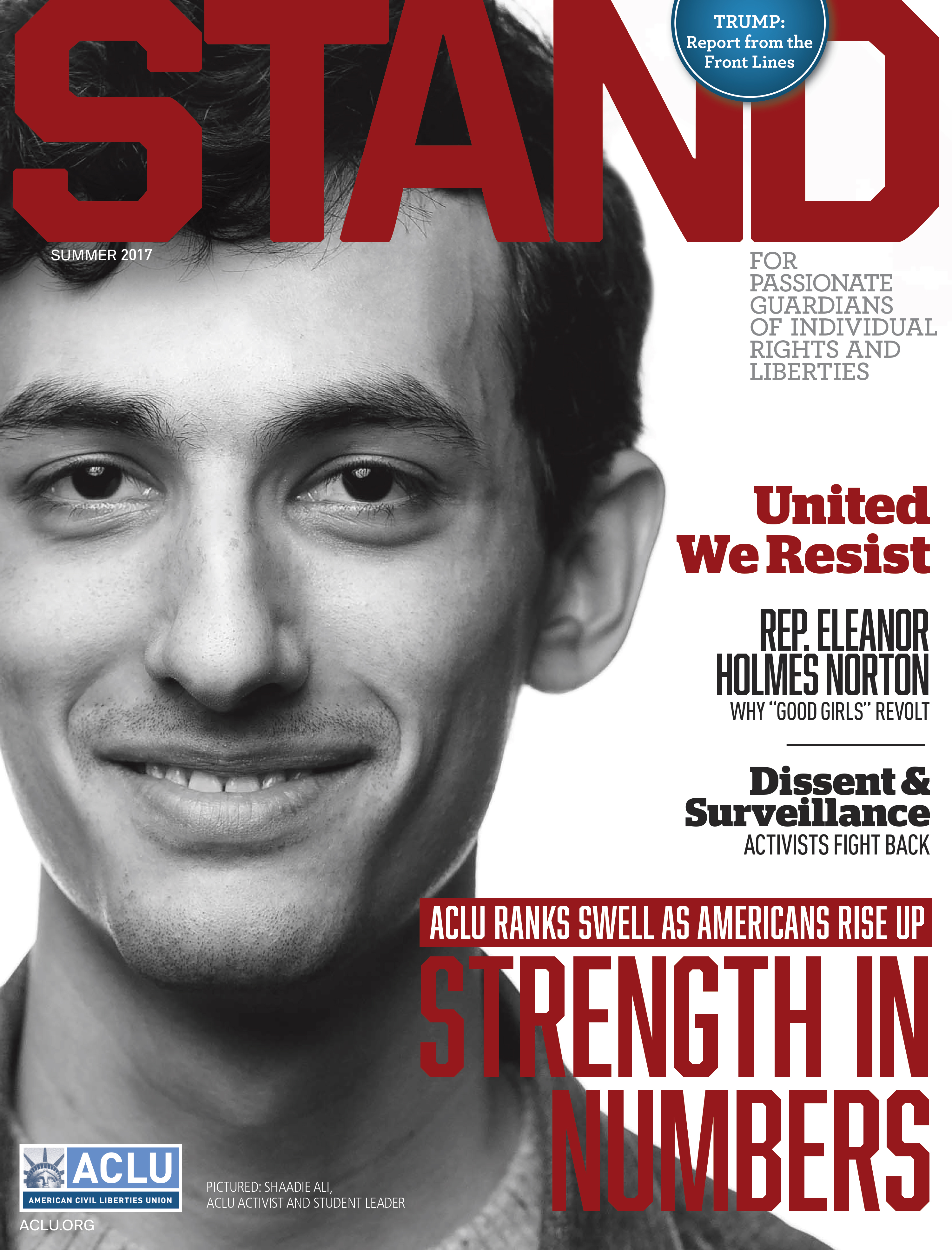 ACLU STAND Magazine Summer 2017 COVER for print